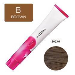 Lebel Краска для волос Materia B8 - Светлый блондин коричневый 80 гр