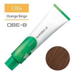 Lebel Краска для волос Materia G Тон OBE8 - Светлый блондин оранжево-бежевый 120 гр.