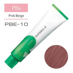 Lebel Краска для волос Materia G Тон PBE10 - Яркий блондин розово-бежевый 120 гр.