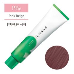 Lebel Краска для волос Materia G Тон PBE9 - Очень светлый блондин розово-бежевый 120 гр.