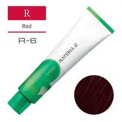 Lebel Краска для волос Materia G Тон R6 - Тёмный блондин красный 120 гр.