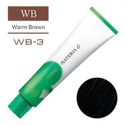 Lebel Краска для волос Materia G Тон WB3 - Темный шатен теплый 120 гр.