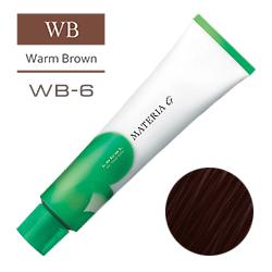 Lebel Краска для волос Materia G Тон WB6 - Темный блондин теплый 120 гр.