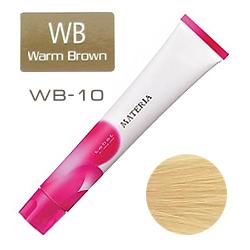 Lebel Краска для волос materia WB10 - Яркий блондин тёплый коричневый 80 гр