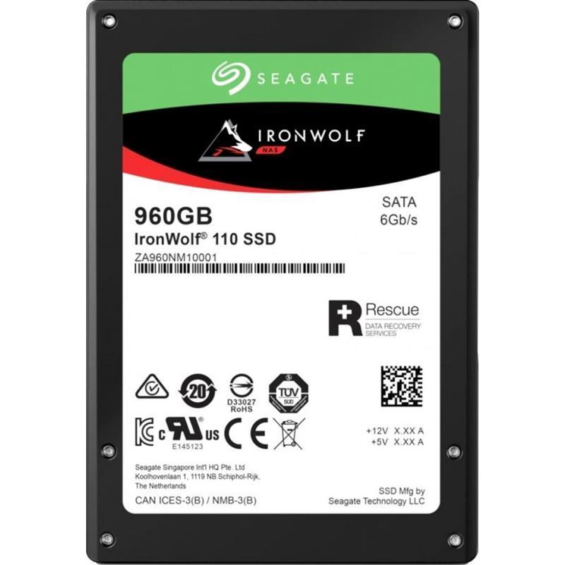 "Накопитель SSD  960GB Seagate IronWolf 110 2.5"" SATAIII 3D TLC (ZA960NM10011)"