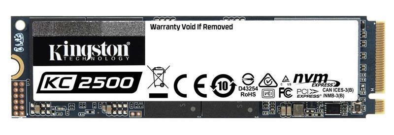 Накопитель SSD 2TB M.2 NVMe Kingston KC2500 M.2 2280 PCIe Gen3.0 x4 3D TLC (SKC2500M8/2000G)