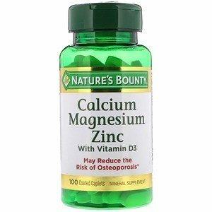 Nature's Bounty Кальций, магний, цинк и витамин D3 100 таб