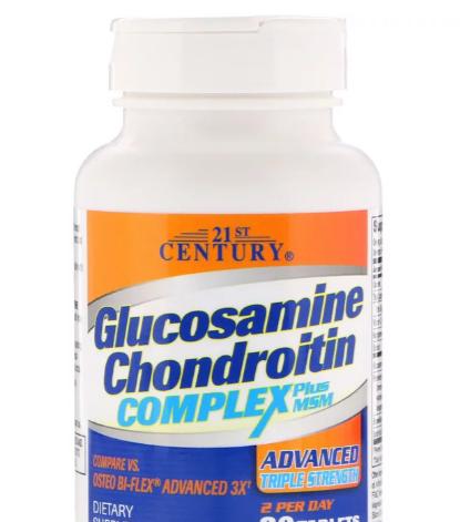 21ST CENTURY GLUCOSAMINE CHONDROITIN COMPLEX 80 ТАБ