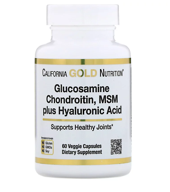 CGN Glucosamine Chondroitin MSM & Hyaluronic 60 капс