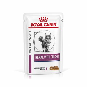 Роял канин Ренал с курицей в соусе для кошек (Renal Chicken) пауч 85г.
