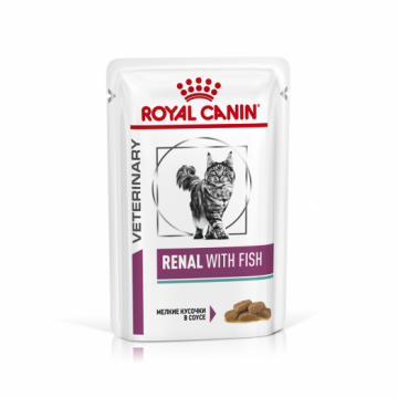 Роял канин Ренал c рыбой в соусе для кошек (Renal With Fish) пауч 85г.