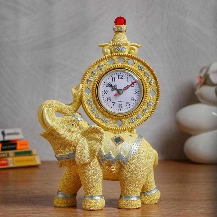 """Часы настольные """"Золотой слон"""" d=7.5 см, 1 АА, дискретный ход   5060062"""