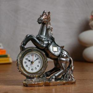 "Часы настольные ""Конь"" d=6 см, 1 АА, дискретный ход   5060061"