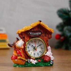 """Часы настольные """"Символ года"""", d=5.5 см, дискретный ход, микс   5053059"""