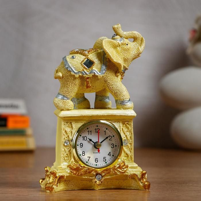 "Часы настольные ""Слон"" d=5.5 см, 1 АА, дискретный ход   5060057"