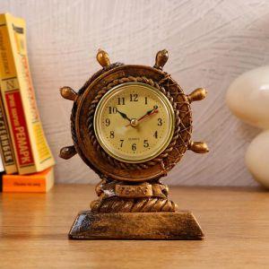 """Часы настольные """"Штурвал"""", 1 АА, дискретный ход,  12.5х4.3х15.5 см   5180710"""