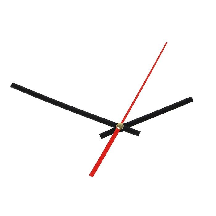Комплект из 3-х стрелок для часов черные 75/115 (1075) (фасовка 100 наборов) 2310956