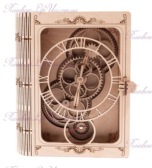 """Часы настенные из дерева """"Книга"""""""