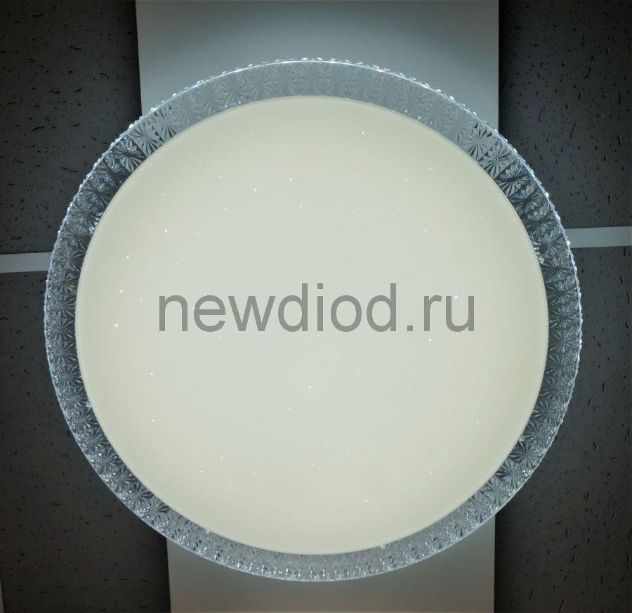 Управляемый светодиодный светильник PLUTON RGB 70W R-595-CLEAR/SHINY-220-IP40