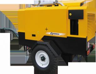 Передвижной компрессор с дизельным двигателем ММЗ Remeza ДК-12/7