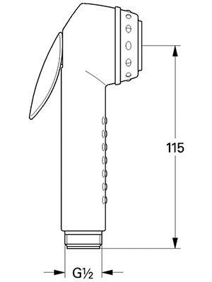Гигиенический душ Relexa Plus 28020 F00 серебристый металлик / матовый ФОТО