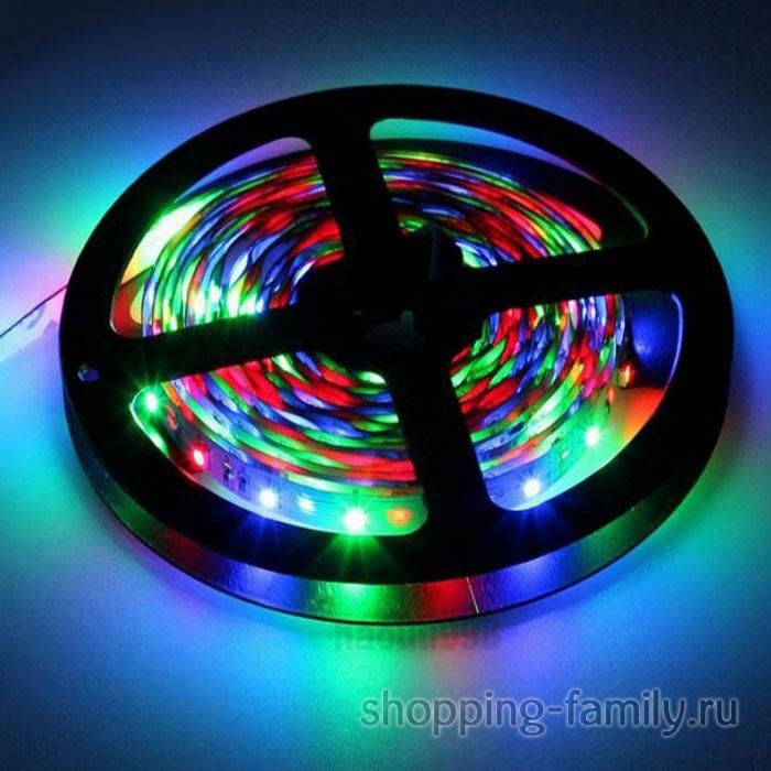 Светодиодная лента с пультом, 5 метров, цвет Разноцветный