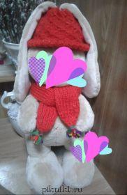 Одежда- шляпка и шарф для заек
