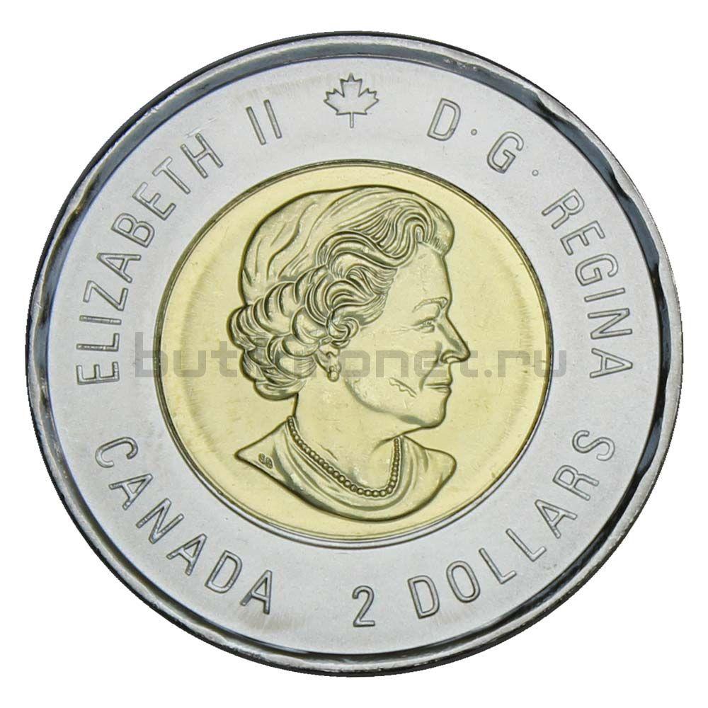 2 доллара 2020 Канада 75 лет победе во Второй Мировой войне