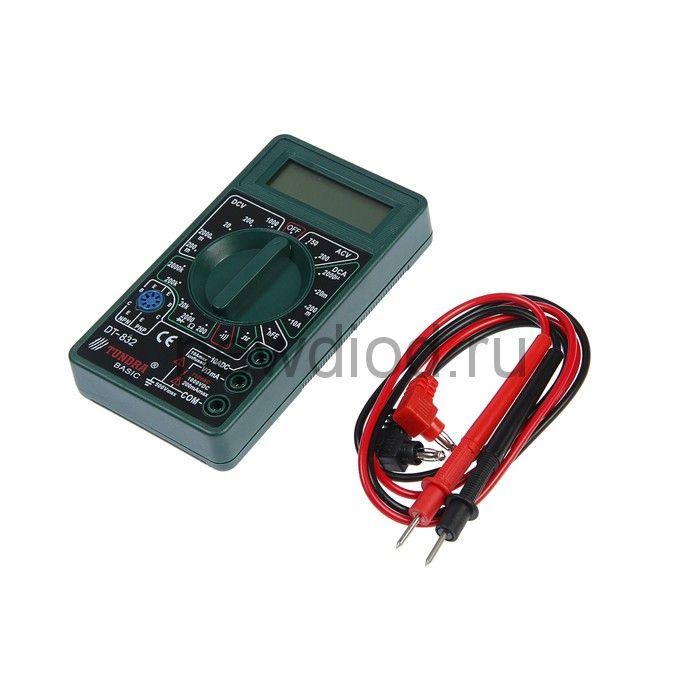 Мультиметр TUNDRA, DT-832, ACV/DCV, DCA, 200-2МΩ, прозвон