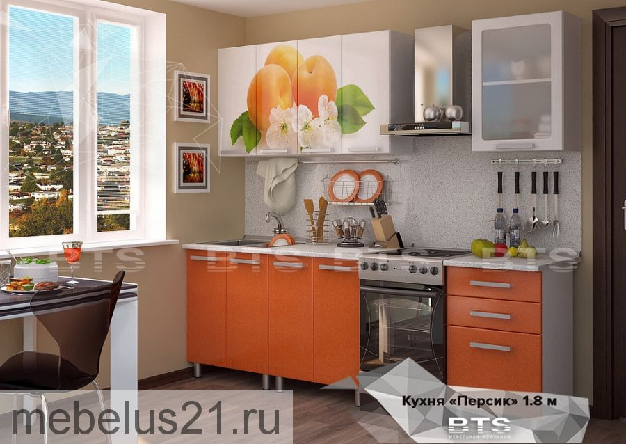 """Кухонный гарнитур """"Персик 1,8"""""""