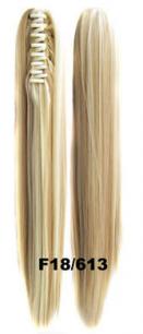 Искусственные термостойкие волосы на зажиме прямые №F018/613 (55 см) -  150 гр.