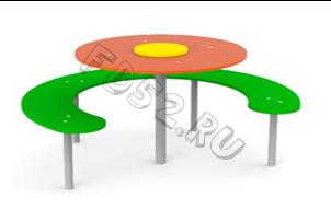 "Стол со скамейкой ""Ромашка"" 130.04"