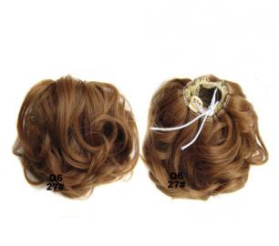 """Искусственные термостойкие волосы - Шиньон """"Пучок"""" #027, вес 60 гр"""