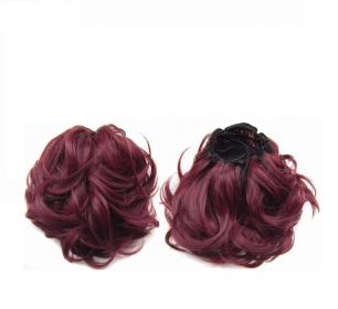 """Искусственные термостойкие волосы - Шиньон """"Пучок"""" #99J , вес 60 гр"""