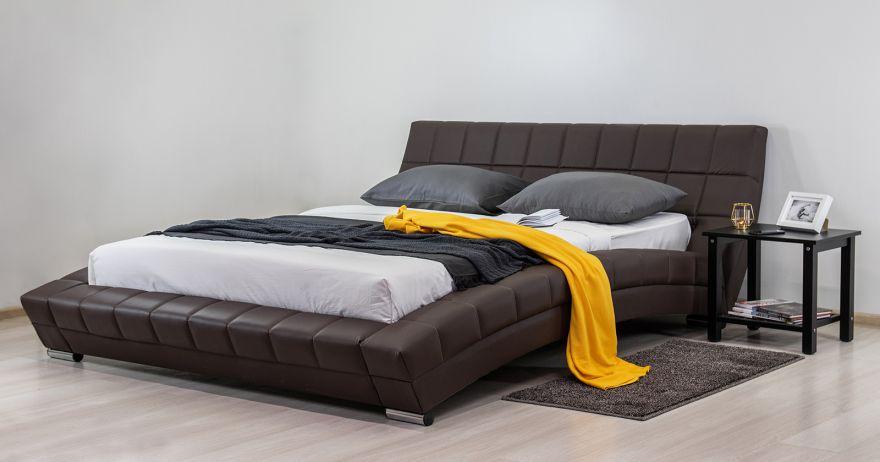Кровать Оливия (арт. Марика 468 к/з (шоколад))| Моби