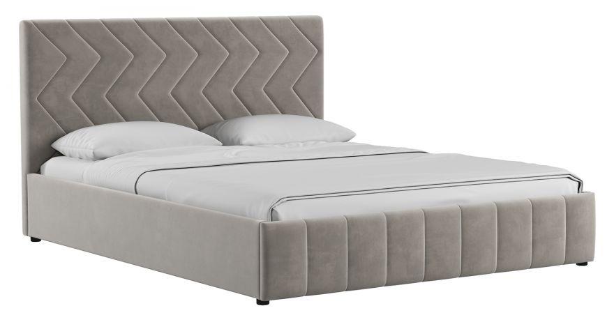 Кровать Милана (арт. Лекко фог (светлый кварцевый серый))| Моби
