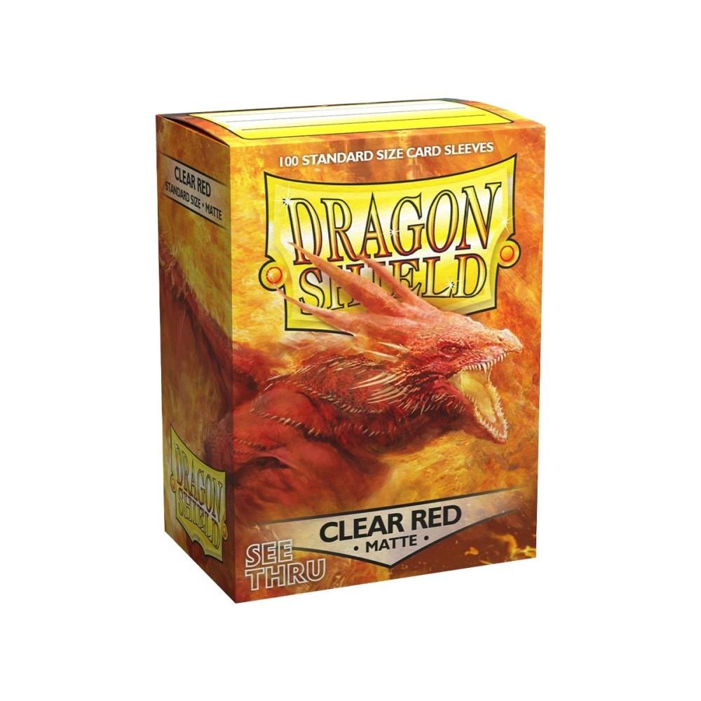 Протекторы Dragon Shield матовые полупрозрачные красные (100 шт.)