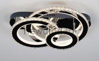 Управляемый светодиодный светильник Brilliance 2876 120W нерж.сталь/кристалл 480*380mm пульт Oreol