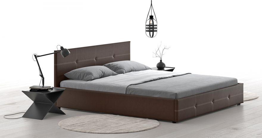 Кровать Синди (арт. Марика 468 к/з (шоколад)) | Моби
