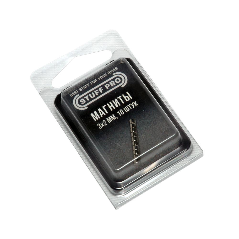 Магниты STUFF-PRO для миниатюр (10 штук, 3х2 мм)