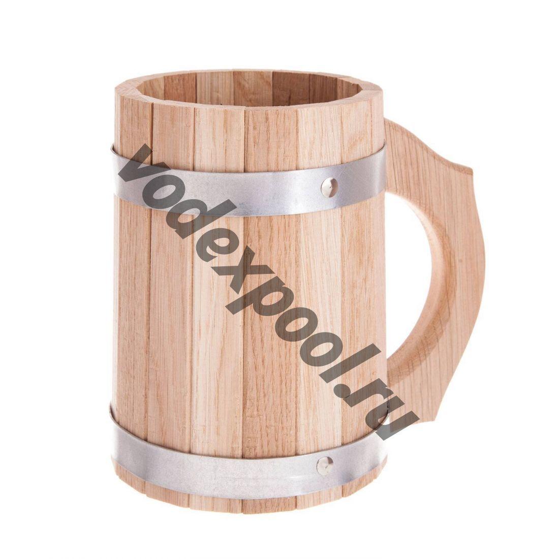 Кружка деревянная Осина 1 л