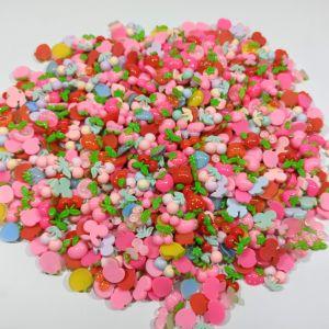 """Кабошон, пластик, микс """"Фрукты, ягоды"""", размер  16-22мм (1уп = 50шт), Арт. КБП0420"""