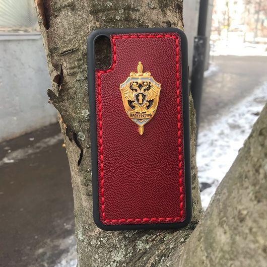 Кожаный чехол-накладка «Прокуратура РФ» на iPhone