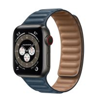 Часы Apple Watch Edition Series 6 GPS + Cellular 40mm Space Black Titanium Case with Leather Link Baltic Blue Leather Link