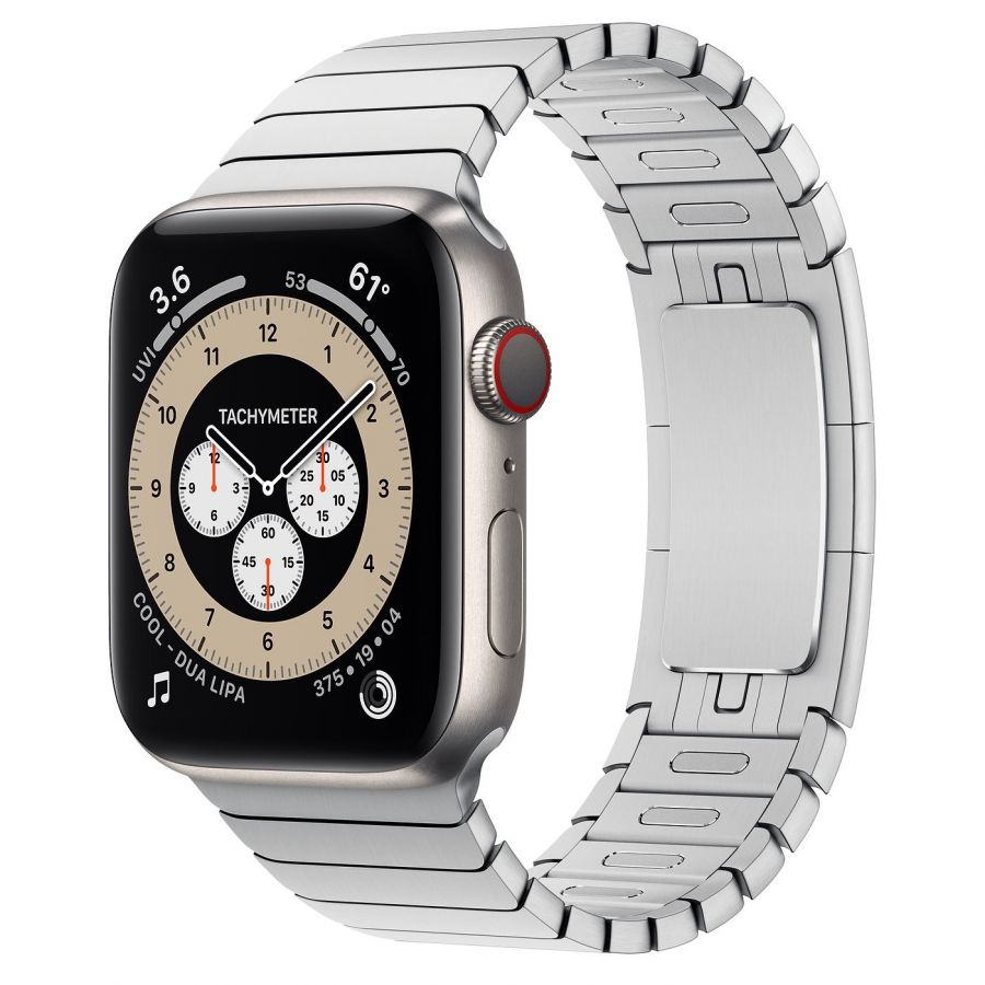 Часы Apple Watch Edition Series 6 GPS + Cellular 44mm Titanium Case with Silver Link Bracelet