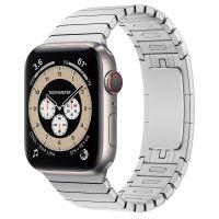 Часы Apple Watch Edition Series 6 GPS + Cellular 44mm Titanium Case with Silver Link Bracelet