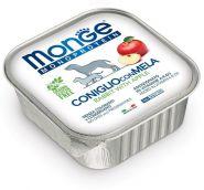 Monge Dog Monoprotein Fruits Консервы для собак паштет из кролика с яблоком, 150г