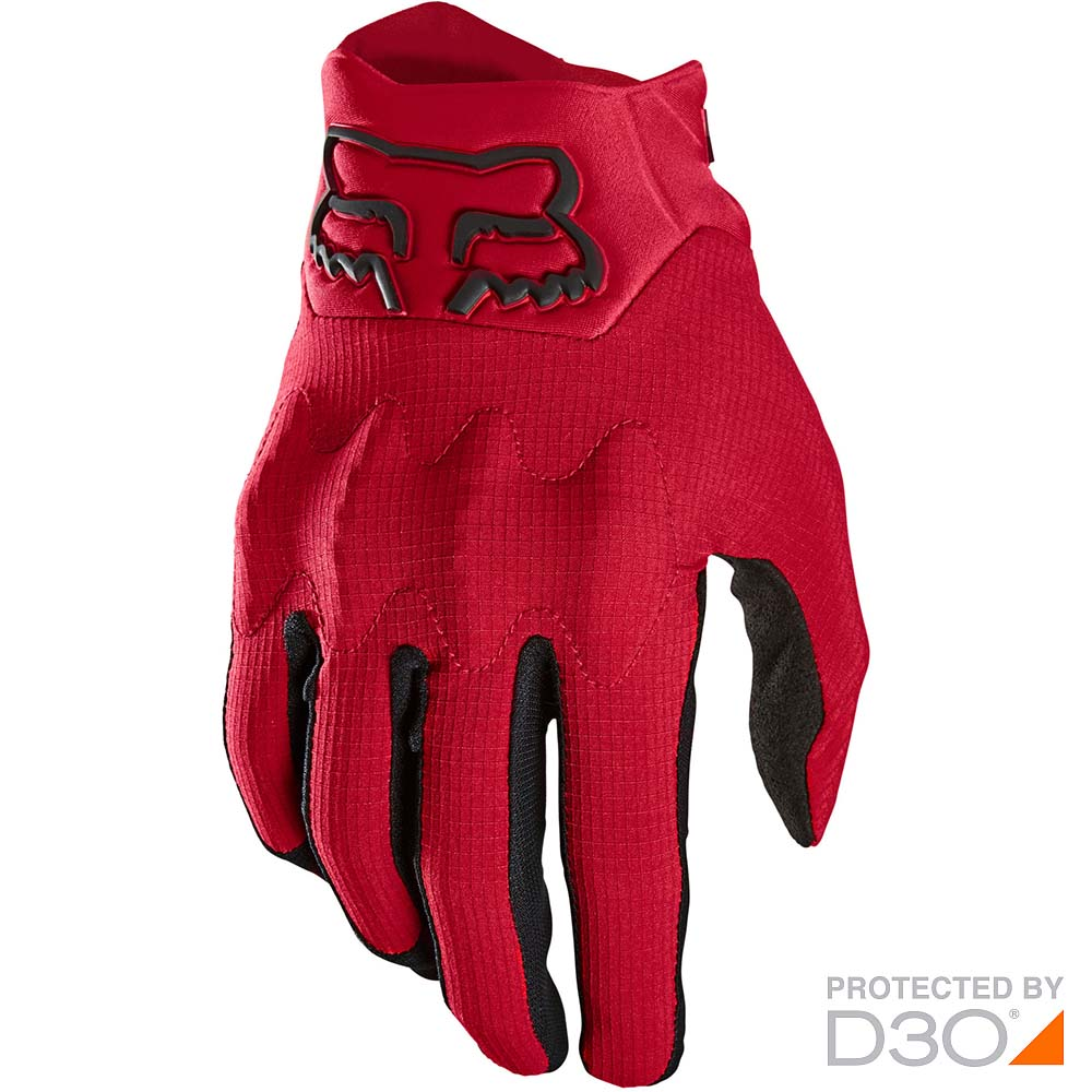 Fox 2021 Bomber LT Flame Red перчатки