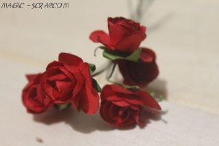 Розы красные (5шт)