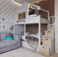 Двухъярусная кровать-домик Roof №8А